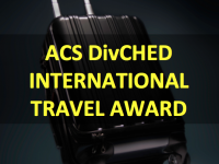 "text over black suitcase: ""ACS DivCHED International Travel Award"""