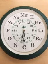 Image of a chemistry themed clock